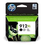 HP 912XL 3YL84AE, Negro, Cartucho de Tinta de Alta Capacidad Original, compatible con impresoras de inyección de tinta HP OfficeJet Pro Series 8010; 8020