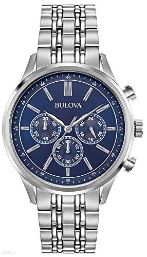 Bulova Orologio Cronografo Quarzo Uomo con Cinturino in Acciaio Inox 96A210