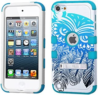 PHONETATOOS iPod Touch 5th 6th Generation Case - Hard Shell Case Compatible with Apple - Shockproof Hybrid 5/6 Cover with Stand for Boys and Girls (Dream Catcher Owl Ombre)