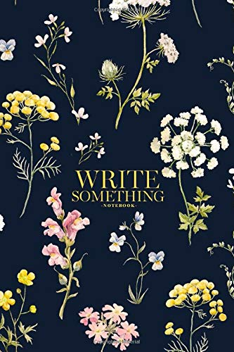 Notebook - Write something: Watercolor floral pattern, delicate flower wallpaper, wildflowers pink, tansy, pansies notebook, Daily Journal, ... College Ruled Paper, 6 x 9 inches (100sheets)