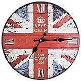 vidaXL Reloj de Pared de Estilo Vintage Retro Redondo Londre