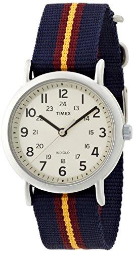 Timex Weekender Indiglo Analog Beige Dial Unisex Watch - T2P234