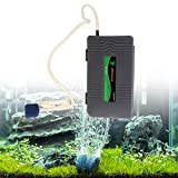 Hergon Portable Battery Powered Oxygen Air Pump,Aquarium Fish Tank Aerator with Stone,Home Garden Decor