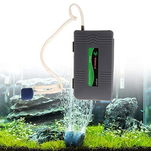 Cuigu Sauerstoff-Luftpumpe mit Aquarium, tragbar, batteriebetrieben, für Aquarien