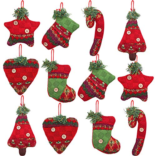 Aneco 12 Pieces Christmas Tree Decorations Rustic...