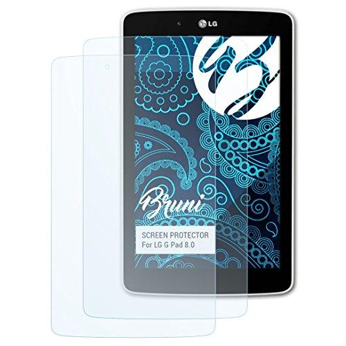 Bruni Schutzfolie kompatibel mit LG G Pad 8.0 Folie, glasklare Bildschirmschutzfolie (2X)