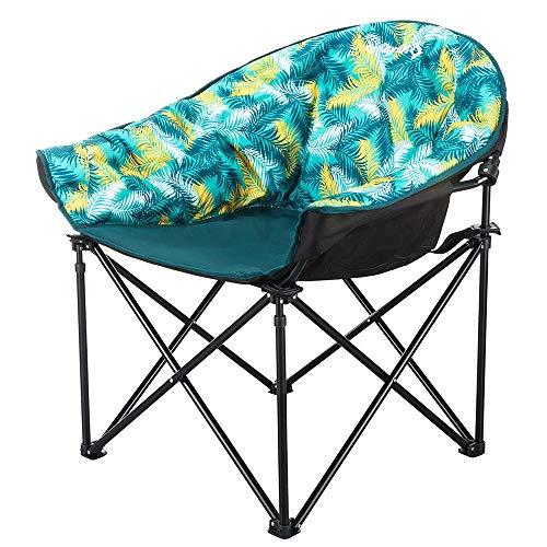 LARRY SHELL Fauteuil de Camping Pliant Moon Saucer Chaise Légère Sofa Chaise Round Beach, Chaises à Cadre métallique, pour la randonnée, Le Camping, la pêche ou Le Pique-Nique