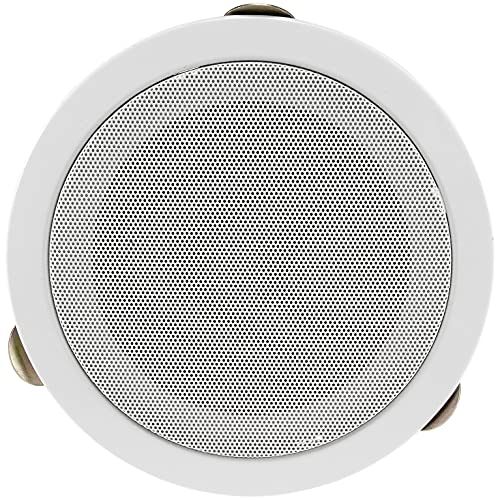 Einbau-Lautsprecher für Wand Decke Ø 179mm, 80 Watt Deckenlautsprecher Metallschutzgitter Einfache Klemm Montage Weiß
