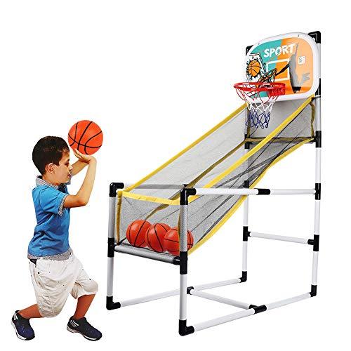 FXQIN Maquina Baloncesto Arcade Set con 3 Pelotas y Bomba, Canasta Baloncesto Infantil para Interior, PVC Basketball Stand, Dentro de Mini Aro de Baloncesto en la Sala de Oficina