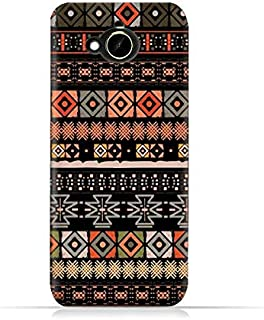 HTC Desire 10 Compact TPU Silicone Protective Case with Ethnic Boho Seemless Pattern Design