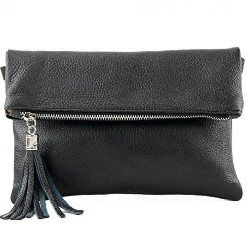 borsa in pelle Borsa a tracolla per borsa a tracolla Borsa piccola in pelle T167, Colore:nero