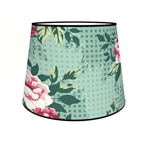 Abat-jours 7111304366785 Conique Rosy Lampadaire, Tissus/PVC, Multicolore