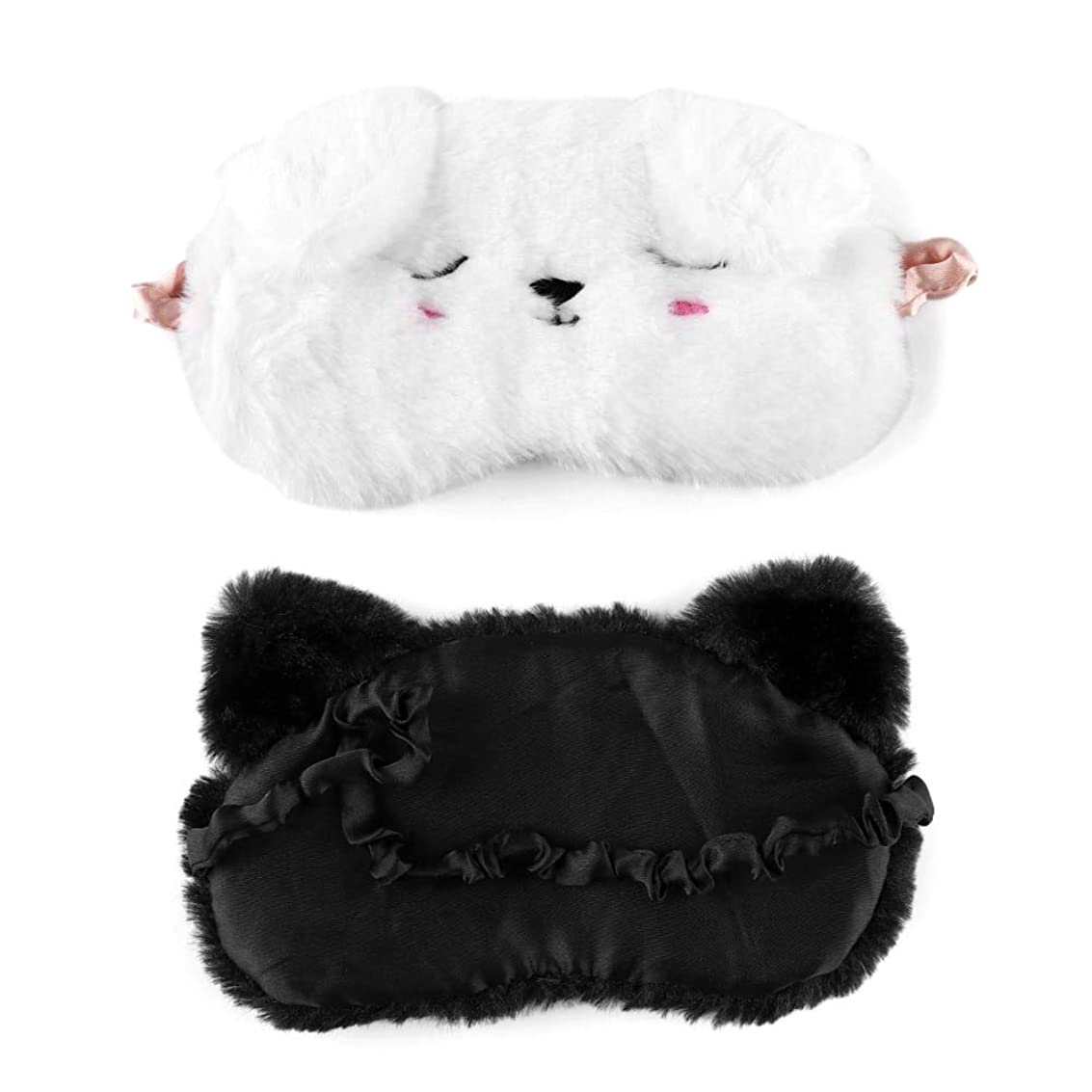 同等の傘低い1ピースかわいい漫画猫白犬アイマスクホーム旅行ゴーグルシェーディング睡眠仮眠目マスクアイシェードシェードカバーパッチアイケアツール