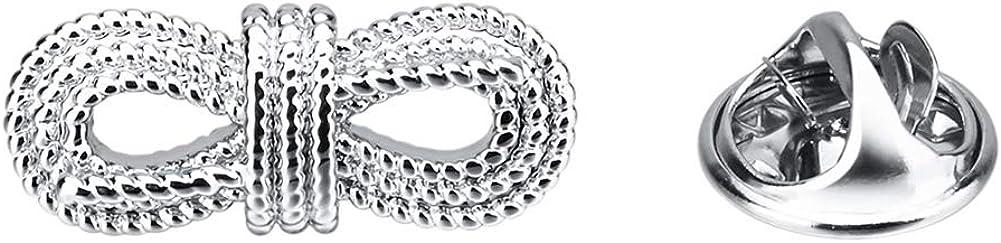 Vcufflinks Twist Lapel Pin Brooch