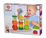 Eichhorn 100073422 Holz Figuren Steckpuzzle, 20-teilig - 3 Stecksäulen mit Steckteilen, hochwertiges Buchenholz ,Made in Germany, für Kinder ab 12 Monaten