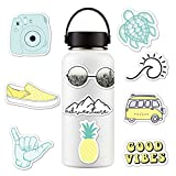 Sunshay Stickers for Water Bottles,10 PCS VSCO Stickers,Trendy Decal Water Bottle Stickers,Cute Waterproof and Perfect for Teens,Girls,Kids,Adults Aesthetic Sticker for Laptop,Car, Phone