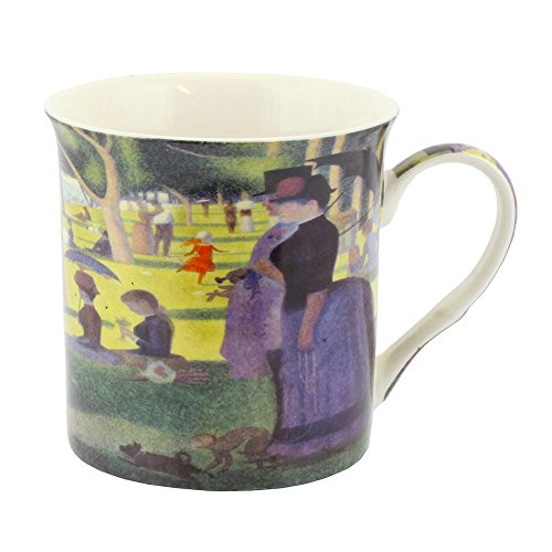 Leonardo Collection Seurat Sunday Afternoon - Taza de porcelana (12 x 8 x 9 cm), multicolor