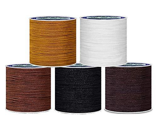 TOKYMOON 0,8 mm 45 m mixtos calcetines hilo hilo hilo hilo hilo para DIY collar pulsera artesanía joyería cuerda cuerda elástica hilo hilo hilo hilo hilo hilo hilo hilo hilo elástico