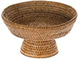 KOUBOO La Jolla Rattan Fruit Bowl, 10.5 inches x 10.5 inches x 6.5 inches, Honey Brown