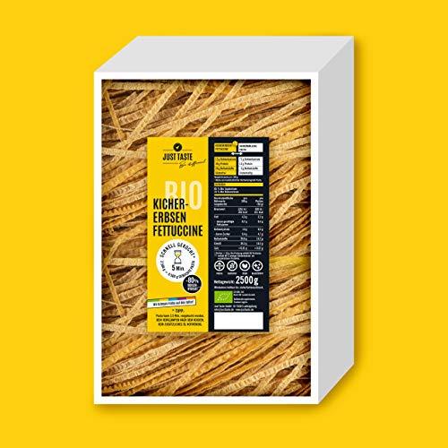 JUST TASTE – Kichererbsen Fettuccine – Die neue BIO Gemüse Pasta – BIG BPACK 2,5 KG