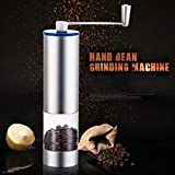 IIDEA Manual Coffee Grinder,Portable Cone Grinder, Manual Spice Grinder, Coffee Grinder, Automatic Grinder - Conical Burr Mill & Brushed Stainless Steel Whole Bean Burr Coffee Grinder for Drip Coffee,