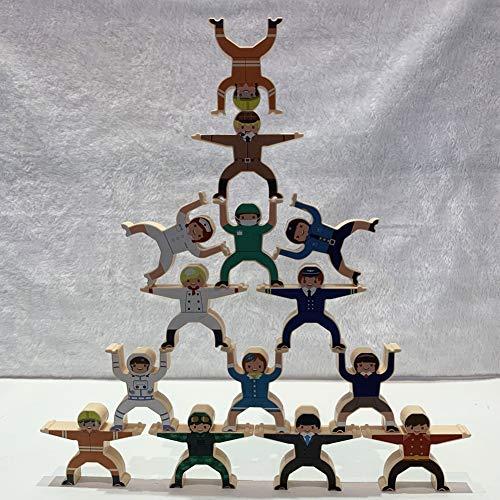 Brinquedo de equilíbrio, blocos para crianças, manufatura de material plástico para crianças Estudantes de viagens para casa(Jenga)