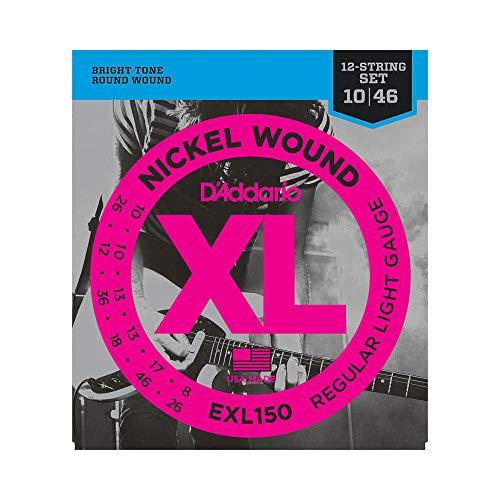 D'Addario EXL150 Saitensatz für 12-Saiter Gitarre 0,025 cm - 0,12 cm (.010 - .046 Zoll)