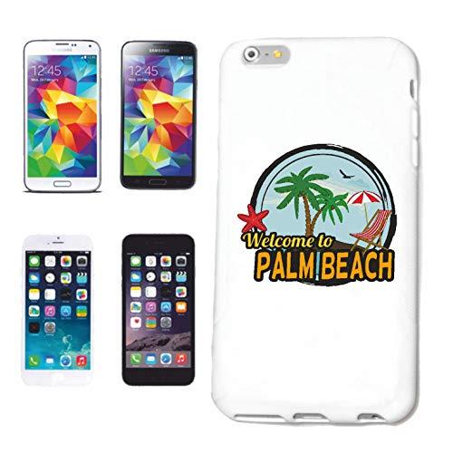Reifen-Markt Funda para iPhone 4 / 4S, diseño con texto 'Welcome to Palm Beach Surfen'