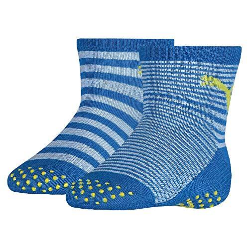 PUMA Unisex-Baby ABS (2 Pack) Socks, Blue Green Combo, 19-22