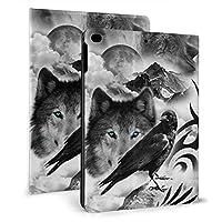 Ipad 2018 2017 ケース アイパッド 2017 9.7 Ipad Air2 Ipad Air ケース 手帳型保護カバー 狼の家族 全面保護 耐衝撃 傷つけ防止 二つ折 超軽量 オートスリープ 高級pu レザーケース