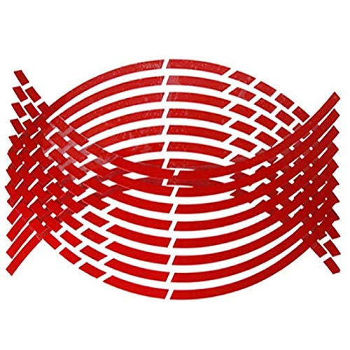 DAGONGJI Pack of 32 Automotive Wheel Sticker Reflective Stickers on Wheel Hub Fluorescent Wheel Strip Sticker Tape...