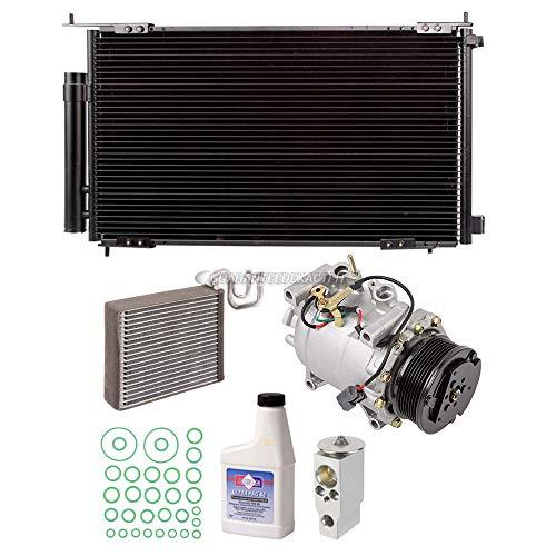 A/C Kit w/AC Compressor Condenser Drier Evaporator Expansion Valve Oil & Seals For Honda CR-V CRV 2002-2006 - BuyAutoParts 60-80601EK New