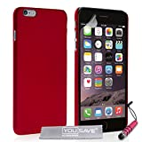Yousave Accessories® Carcasa híbrida rígida Funda con Mini lápiz Capacitivo para iPhone 6 Plus - Rojo
