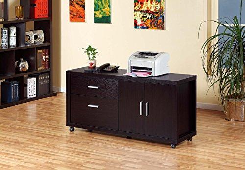 13728 File Cabinet Printer Stand Office Organizer Credenza, Red Cocoa Color