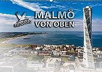 Malmoe von oben (Wandkalender 2022 DIN A2 quer): Malmoe, die moderne Stadt in Suedschweden (Monatskalender, 14 Seiten )