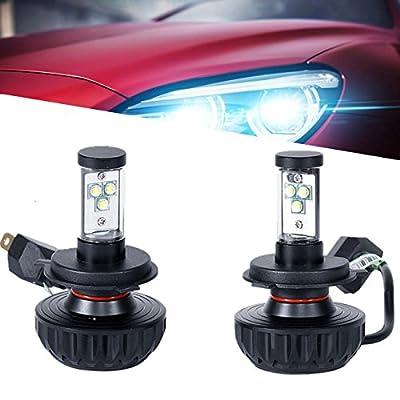 POWLAB H7 LED Headlight Bulbs Headlamps Conversion Kit with 2 Pcs of Headlight Bulbs