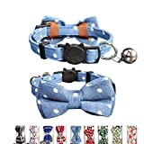 THAIN Cat Collar Breakaway with Bell and Bow...