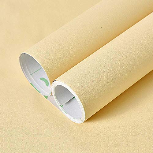 bjyxszd Papel Tapiz de PVC Engrosado Autoadhesivo de Color Puro, Papel Tapiz Moderno Minimalista restaurado, Pegatinas de Pared para niños Impermeables para Cabina de gabinete-Beige_60cmX3m