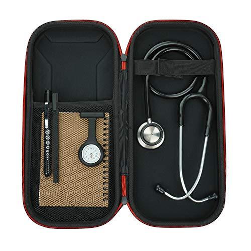 Kit de estetoscopio, incluye estetoscopio de doble cabeza, reloj, linterna, estuche de estetoscopio, bolígrafo y bloc de notas A6, regalo perfecto para enfermeras, estudiantes de medicina