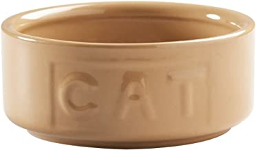 Mason Cash Cane Lettered Stoneware Cat Bowl, 400ml, White 28482