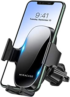 【2021 Upgraded】 Miracase Car Phone Mount, Air Vent Cell Phone Holder for Car, Universal Car Phone Holder Cradle Compatible...