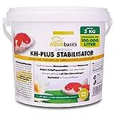 AQUAbasics Gartenteich KH-Plus Stabilisator sichert stabile und lebensnotwendige Wasserwerte im Teich - Stabile Karbonathärte sichert auch den pH-Wert, Größe:5 kg