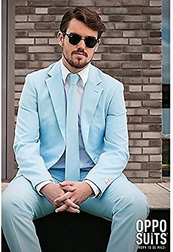 OppoSuits Cool Blau Suit Adult 42 by Opposuits