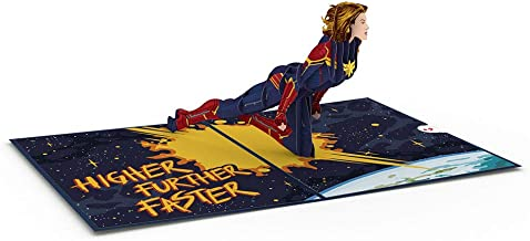 Lovepop and Marvel's Captain Marvel Pop Up Card, 3D Card, Birthday Card, Greeting Card
