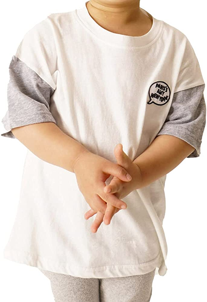 Summer Kids Toddler Casual Youth Short Sleeve Comfort Soft Tops Cotton Embroidery Crew Neck T-Shirt for Boys and Girls