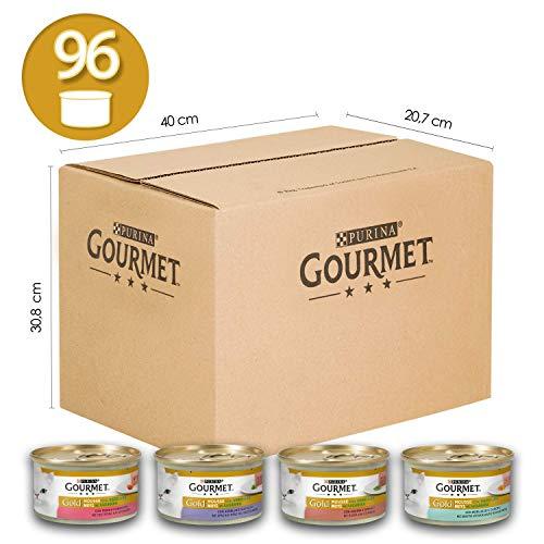 Purina Gourmet Gold Umido Gatto Mousse con Verdure con Agnello,...