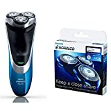 Philips Norelco AT810 PowerTouch System Electric Shaver with HQ8 Replacement Blades - (Bundle)