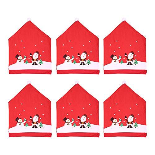 AMhomely Decoraciones de Navidad, Santa Claus para mesa de cocina, fundas para sillas de mesa, decoración de Navidad, Navidad, decoración del hogar, decoración de Navidad, adornos de fiesta, regalos