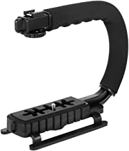 SH SHIHONG U-Grip Handle Mount Video Stabilizer Handle with Hot-Shoe Video Grip with1/4-20 Screw for iPhone 7 Plus XS Max Canon Nikon Sony Panasonic Pentax Olympus DSLR Camera/Camcorder Filmmaking