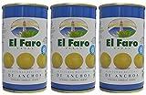 El Faro - Aceitunas Rellenas de Anchoa 150 gr. - [Pack 3]